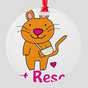 Cat Rescue Round Ornament