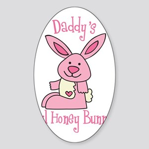 Daddy's Lil' Honey Bunny Sticker (Oval)
