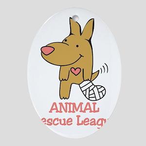 Animal Rescue League Oval Ornament