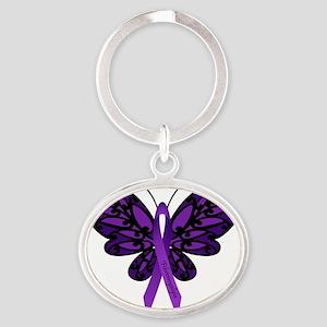 Fibromyalgia Awareness Oval Keychain