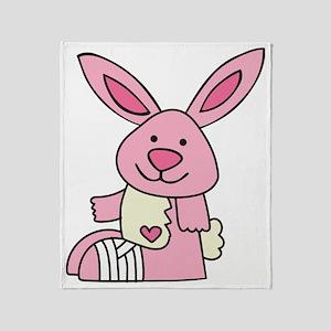 Broken Bunny Throw Blanket