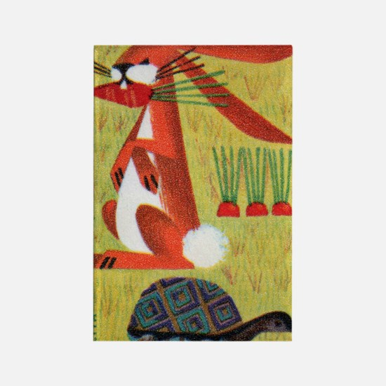 Vintage The Tortoise and the Hare Rectangle Magnet