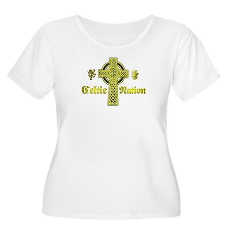 Celtic Nation. Women's Plus Size Scoop Neck T-Shir
