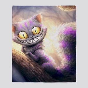 Cheshire Cat Throw Blanket