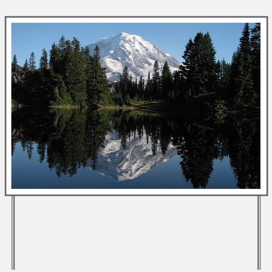 Mt. Rainier reflection 1 Yard Sign