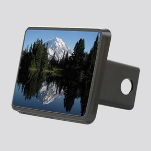 Mt. Rainier reflection 1 Rectangular Hitch Cover