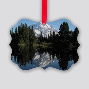 Mt. Rainier reflection 1 Picture Ornament