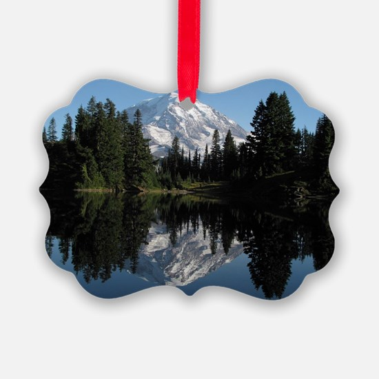 Mt. Rainier reflection 1 Ornament