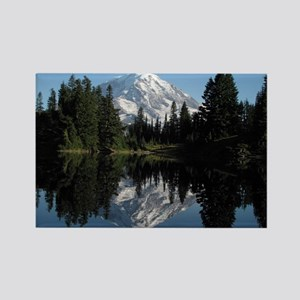 Mt. Rainier reflection 1 Rectangle Magnet