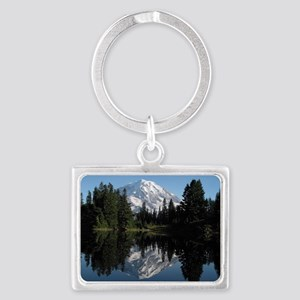 Mt. Rainier reflection 1 Landscape Keychain