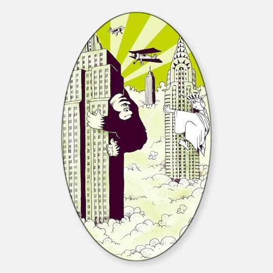 King Kong Sticker (Oval)