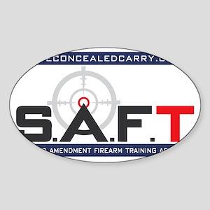 SAFT Color Logo with Web Address Sticker (Oval)