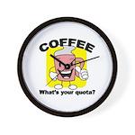 Coffee Quota Wall Clock