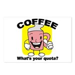 Coffee Quota Postcards (Package of 8)