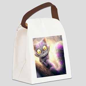 Cheshire Cat Canvas Lunch Bag