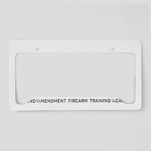 SAFT White on Black License Plate Holder