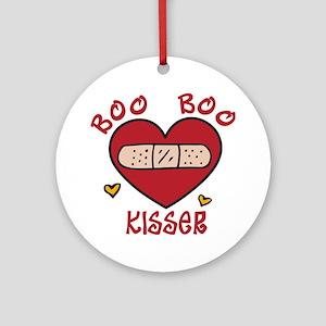 Boo Boo Kisser Round Ornament
