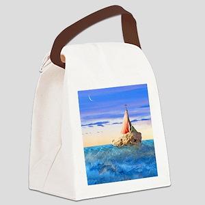 Brendans Boat sq2 Canvas Lunch Bag
