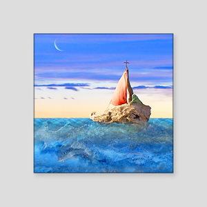 """Brendans Boat sq2 Square Sticker 3"""" x 3"""""""