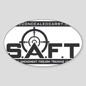 SAFT Black Logo with Web Address Sticker (Oval)