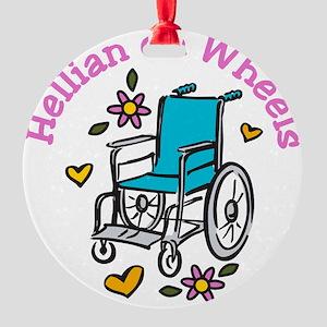 Hellian On Wheels Round Ornament