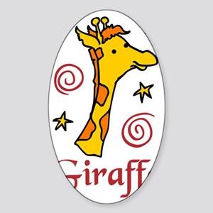Giraffe Sticker (Oval)