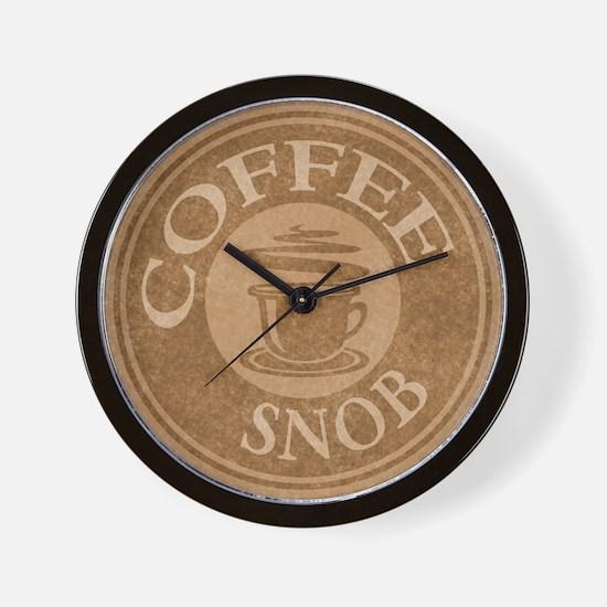 Coffee Snob Coffee Logo Wall Clock
