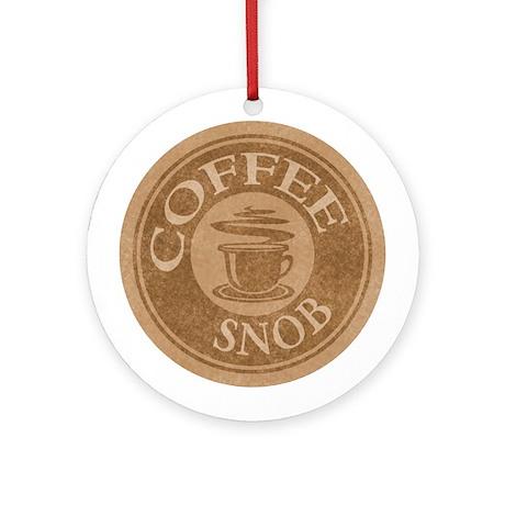Coffee Snob Coffee Logo Ornament (Round)