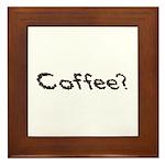 Coffee Beans Framed Tile