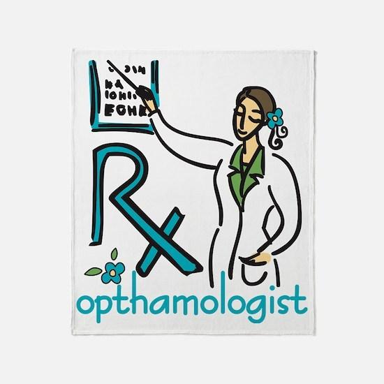 Opthamologist Throw Blanket