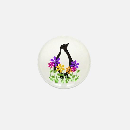 Penguin Garden Mini Button