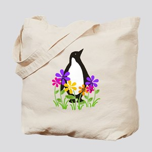 Penguin Garden Tote Bag