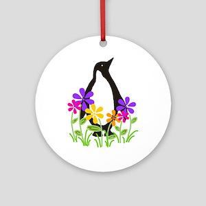 Penguin Garden Ornament (Round)