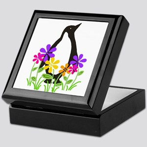 Penguin Garden Keepsake Box