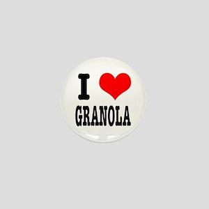 I Heart (Love) Granola Mini Button