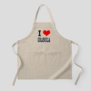 I Heart (Love) Granola BBQ Apron