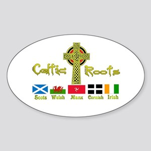 My Celtic Heritage. Oval Sticker