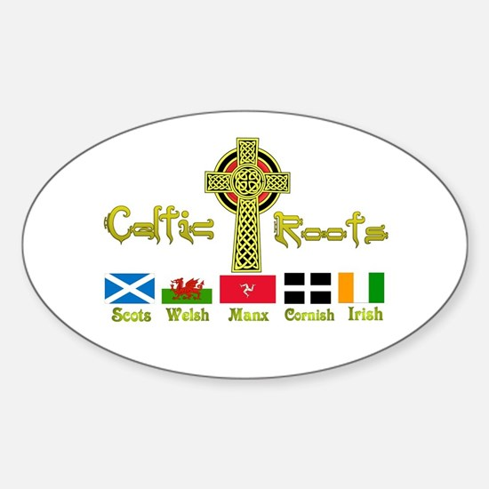 My Celtic Heritage. Oval Bumper Stickers