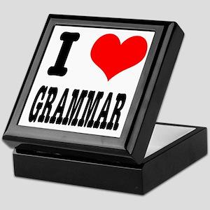 I Heart (Love) Grammar Keepsake Box
