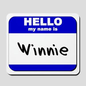 hello my name is winnie  Mousepad