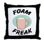 Foam Freak Throw Pillow