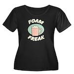 Foam Freak Women's Plus Size Scoop Neck Dark T-Shi