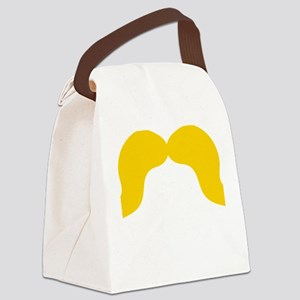 Mustache-004-B Canvas Lunch Bag