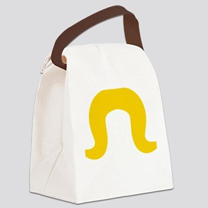 Mustache-018-B Canvas Lunch Bag