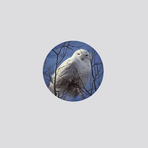 Snowy White Owl Mini Button