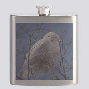 Snowy White Owl Flask
