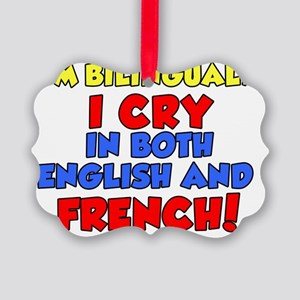 Bilinqual Cry French English Picture Ornament