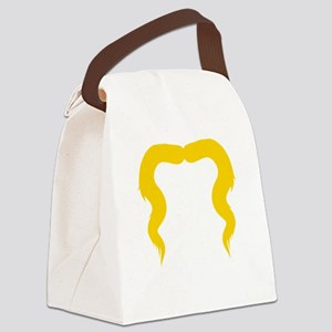 Mustache-016-B Canvas Lunch Bag