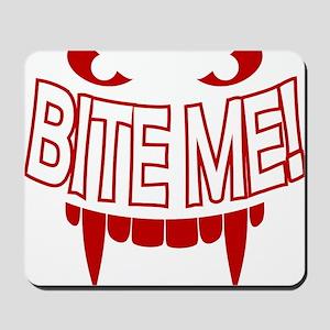 Bite Me Vampire Teeth Mousepad