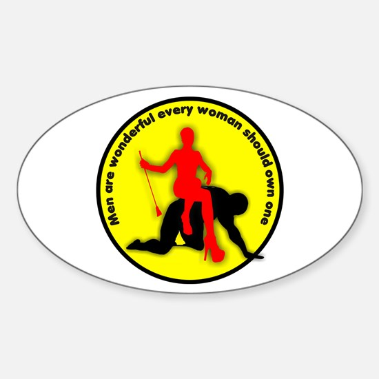 Men are wonderful every woman Oval Decal